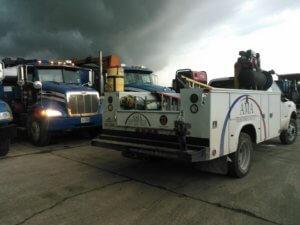 Adams Mobile Air Truck at Hutchins in rain - Q1 2016 photo contest