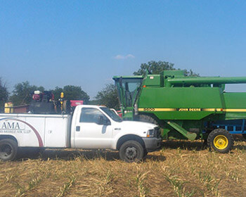 Adams Mobile Air with John Deere Combine